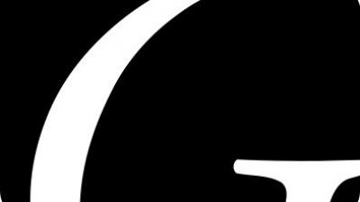 Gavlegårdarnas logotyp svart/vit - Tryck